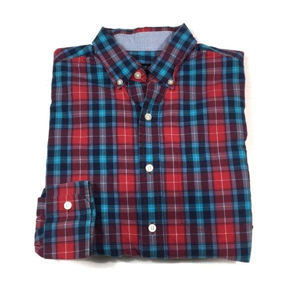 BF484 American Eagle Prep Fit Plaid Shirt S